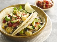 Cauliflower and Black Bean Tacos