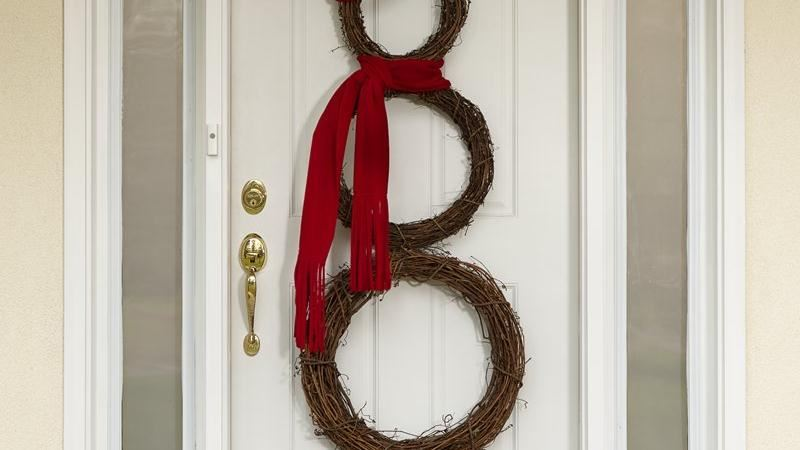 Jolly Snowman Wreath