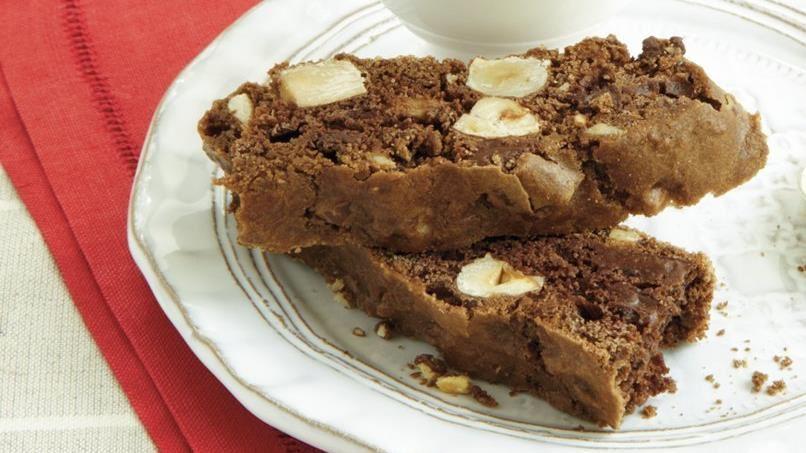 Double Chocolate Hazelnut Biscotti
