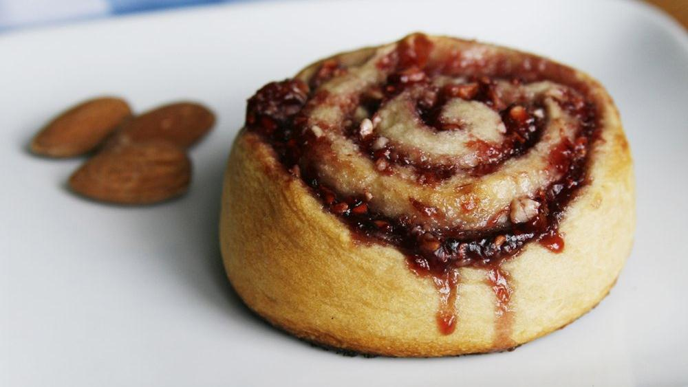 Raspberry-Almond Pinwheels
