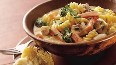 Cheesy Chicken-Pasta Stew