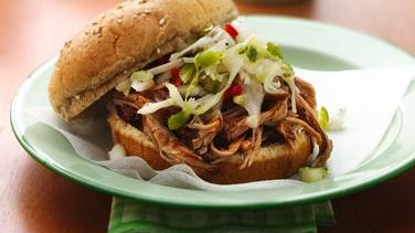 Slow-Cooker Carolina Pulled-Pork Sandwiches