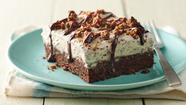 Brownie Ice Cream Crunch Bars