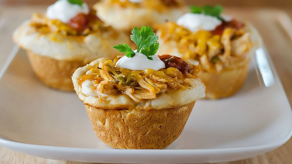 Cheesy Chicken Enchilada Cups