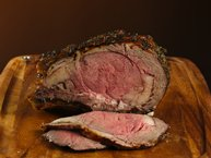 Herb And Garlic Crusted Beef Rib Roast