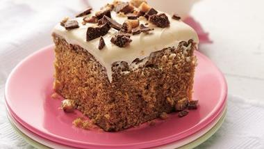 Coffee-Toffee Cake with Caramel Frosting