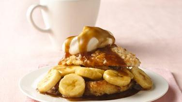 Bananas Foster Biscuit Shortcakes