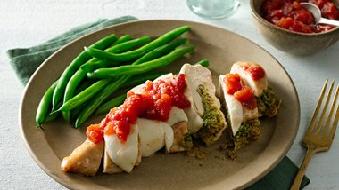 Pesto-Stuffed Chicken Breasts