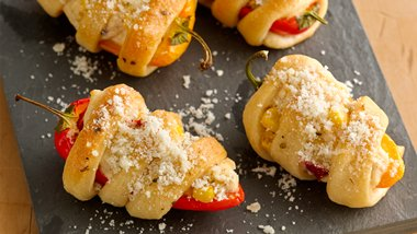 Creamy Corn-Filled Sweet Peppers
