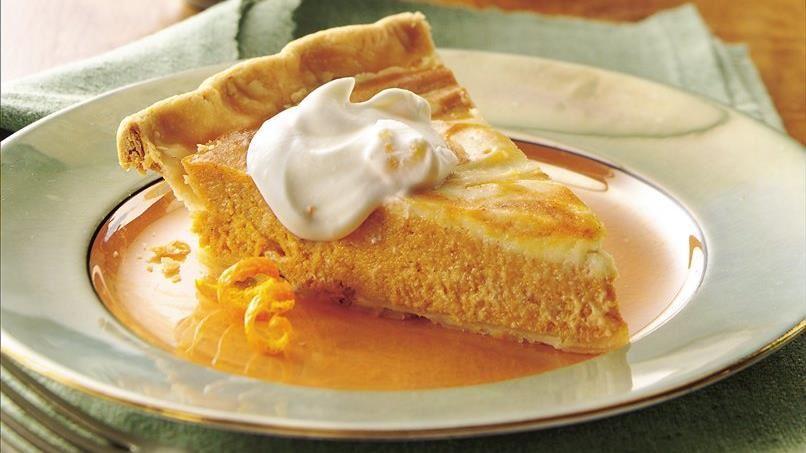 Orange Swirl Pumpkin Pie