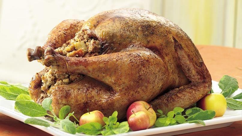 Honey Spice Roast Turkey with Apple Pecan Stuffing