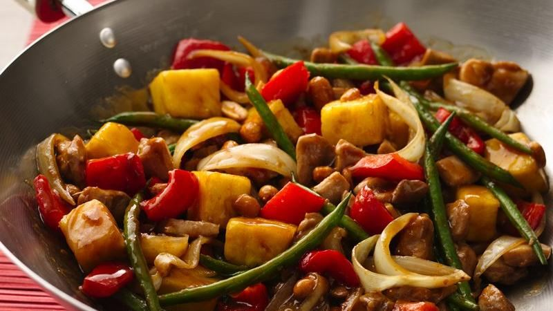 Sweet and Spicy Stir-Fry Chicken recipe from Betty Crocker