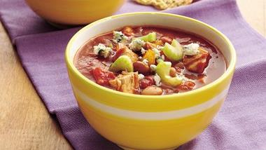 Buffalo Chicken Chili (Cooking for Two)