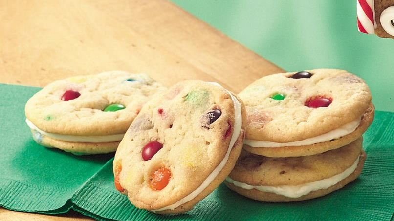 Sugar Cookies with Candies Sandwich Cookies