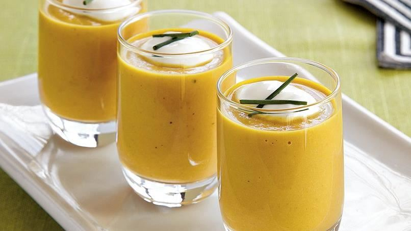 Curried Pumpkin Bisque Shooters
