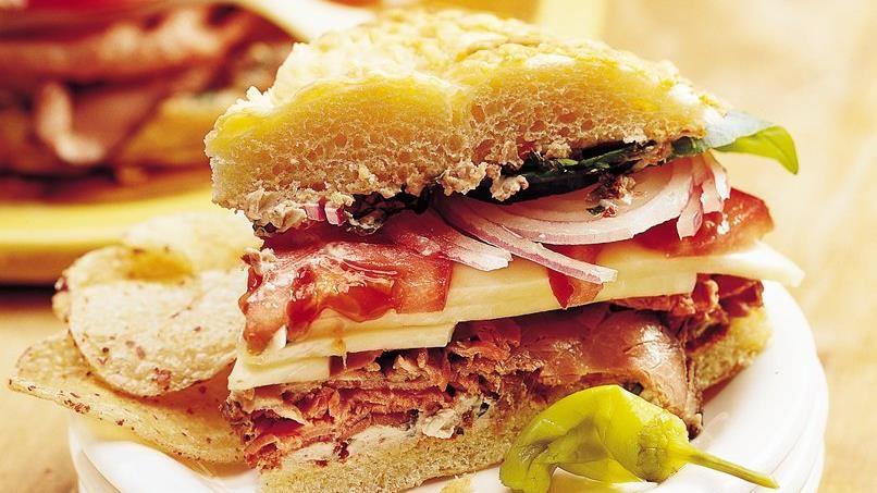 Savory Focaccia Sandwiches