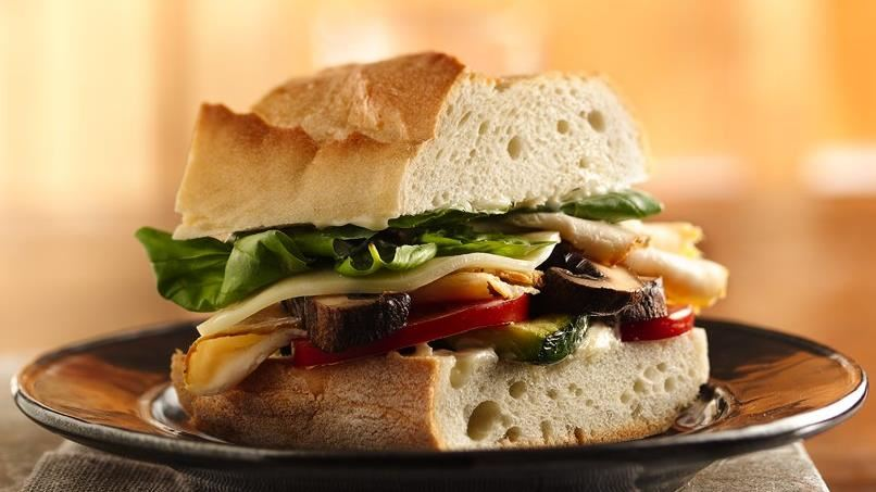 Chicken and Grilled Vegetable Stacked Sandwiches