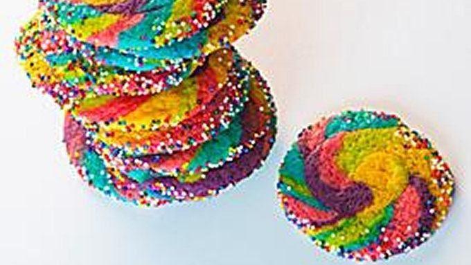 Rainbow Pinwheel Cookies recipe - from Tablespoon!