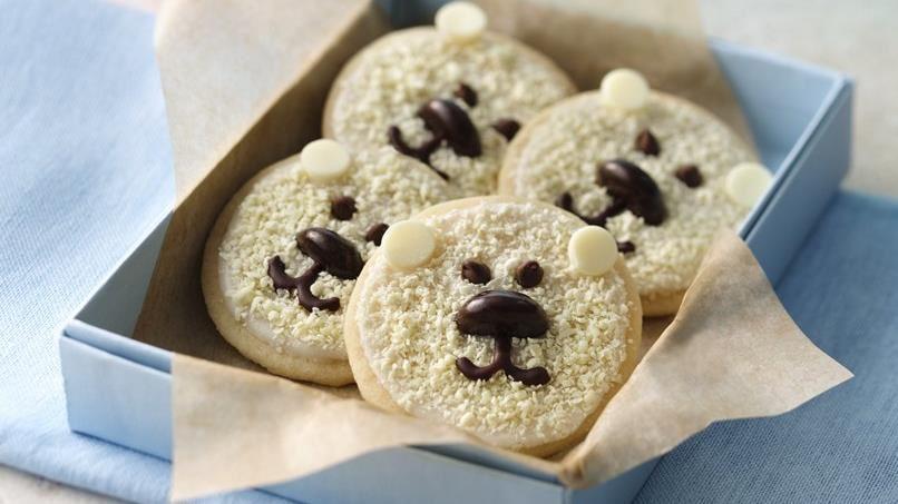 Baby Polar Bear Shortbread Cookies