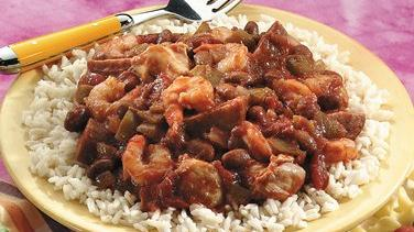 Slow-Cooked Jambalaya-Style Red Beans and Rice