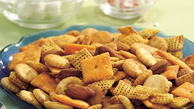 Slow-Cooker Smoky Snack Mix