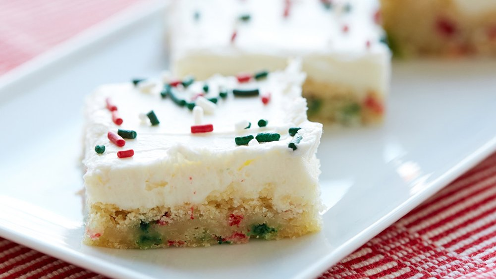 Easiest-Ever Holiday Sugar Cookie Bars