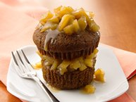 Honey Gingerbread Cakes with Caramel Apple Topping