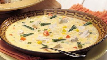 Cheesy Chicken-Vegetable Chowder