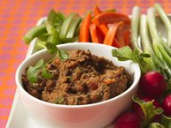 Black Bean Dip with Veggie Dippers