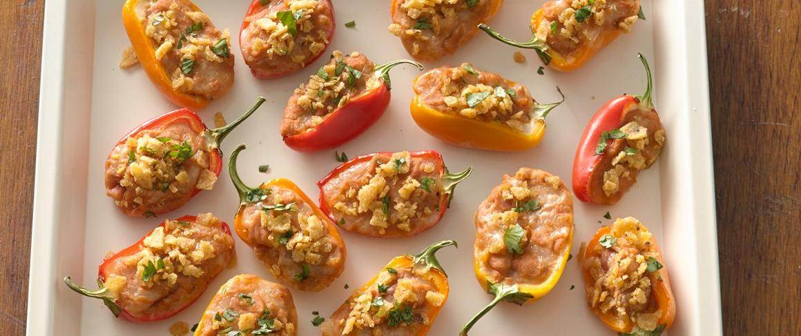 Taco Stuffed Mini Sweet Peppers Recipe From Betty Crocker