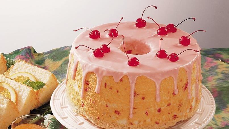 Low-Fat Cherry-Almond Angel Cake