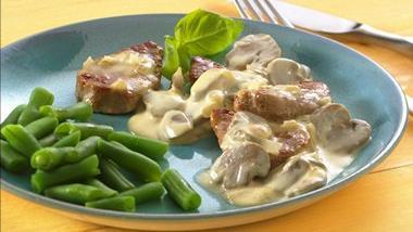 Pork Medallions with Dijon-Mushroom Sauce