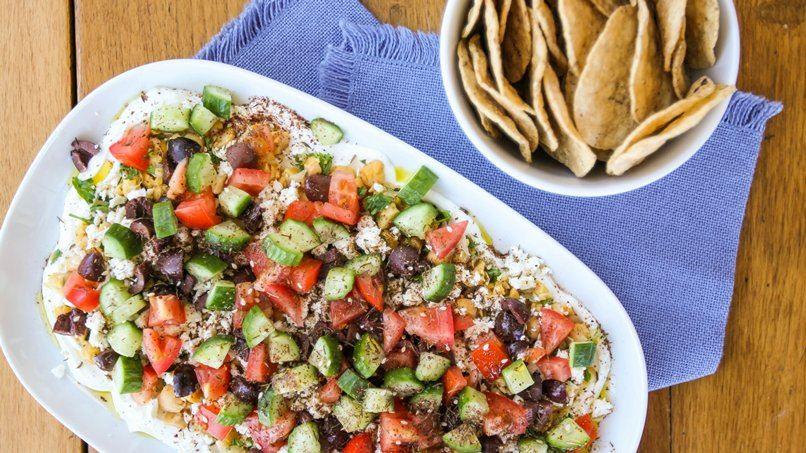 Chopped Hummus Dip with Za'atar