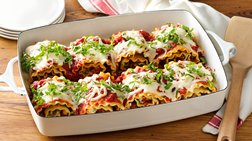 Make-Ahead Cheesy Turkey Spinach Lasagna Roll-Ups