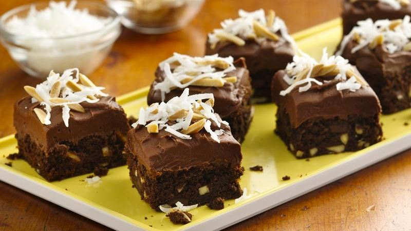Chocolate Chunk Almond Brownies