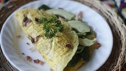 Omelette de Tocino con Aguacate