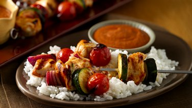 Chipotle Chicken and Vegetable Skewers