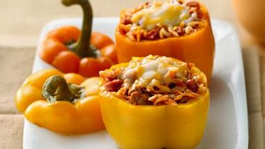 Pizza-Stuffed Peppers