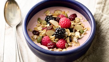 Muesli Greek Yogurt Smoothie Bowls