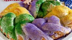Quick Mardi Gras King Cake