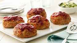 Individual Harissa Turkey Meatloaves