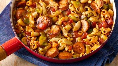 Bold Firehouse Sausage Creole Macaroni