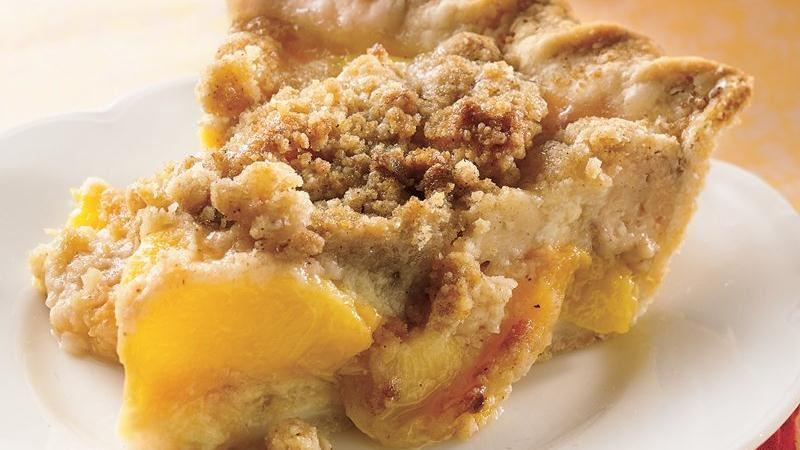 Peach Crumble Pie recipe from Betty Crocker