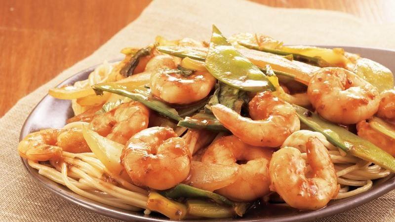 Shrimp-Vegetable Noodle Stir-Fry