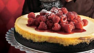 White Chocolate-Raspberry Cheesecake