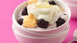 Blackberry-Lemon Yogurt Trifle