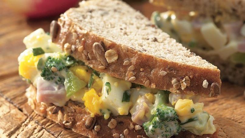 Ham and Egg Salad Sandwiches