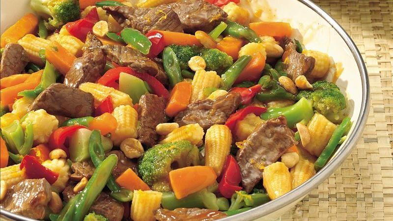 Orange-Szechuan Beef Stir-Fry