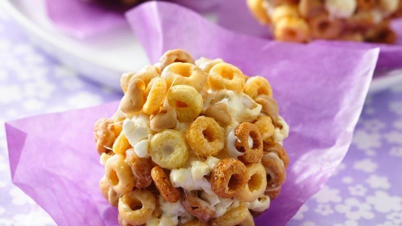Peanut Butter Cheerios® Popcorn Balls