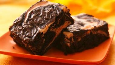 Traditional Scream! Cheese Swirl Brownies